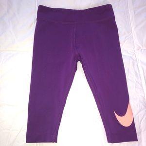 Nike Capris!💜🧡